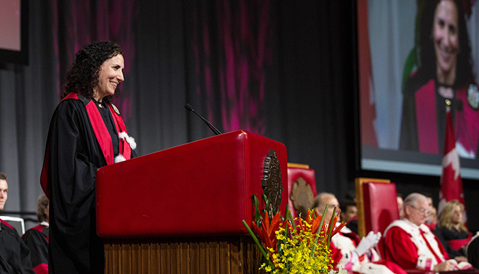 Dina Brooks received an honorary degree from the University of Ottawa this week.